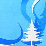 Gesneden rijstpapier blauwe Kerstmis abstact Stock Fotografie