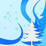 Gesneden rijstpapier blauwe Kerstmis abstact Stock Foto