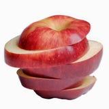 Gesneden rode appel Royalty-vrije Stock Foto's