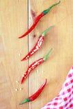 Gesneden rode Spaanse peperpeper Stock Fotografie