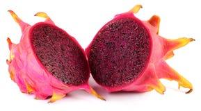 Gesneden rood draakfruit Royalty-vrije Stock Foto's