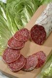 Gesneden salami Royalty-vrije Stock Fotografie