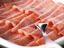 Gesneden salami Royalty-vrije Stock Foto