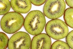 Gesneden sappig kiwifruit Mening van hierboven royalty-vrije stock fotografie