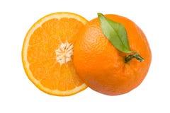 Gesneden sinaasappel royalty-vrije stock foto's