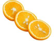 Gesneden sinaasappel op een witte achtergrond Stock Fotografie