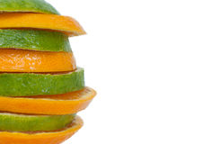 Gesneden sinaasappel in toren Stock Afbeeldingen