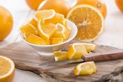 Gesneden Sinaasappelen Royalty-vrije Stock Afbeeldingen