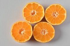 Gesneden sinaasappelen Stock Foto's