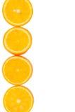 Gesneden sinaasappelen met een plaats voor tekst Stock Afbeeldingen