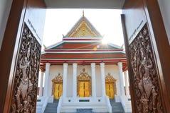 Gesneden tempeldeur Stock Foto