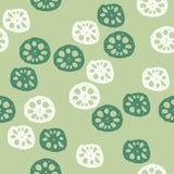 Gesneden van lotusbloemwortels illustratie als achtergrond vector illustratie