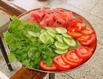 Gesneden verse groenten Stock Afbeeldingen