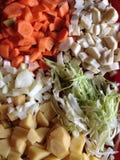 Gesneden verse groenten Royalty-vrije Stock Afbeeldingen
