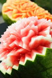 Gesneden watermeloen Stock Afbeelding
