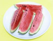 Gesneden watermeloen Royalty-vrije Stock Foto's