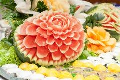 Gesneden watermeloen (selectieve nadruk) royalty-vrije stock afbeelding