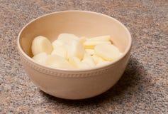 Gesneden Witte Aardappels Stock Afbeeldingen