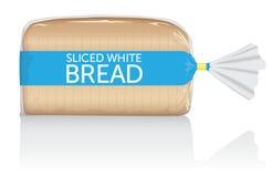 Gesneden witte vector visueel van het broodbrood in duidelijke zak stock illustratie