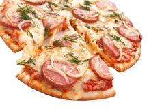 Gesneden worst en uipizza royalty-vrije stock fotografie