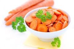 Gesneden wortelen Stock Foto's