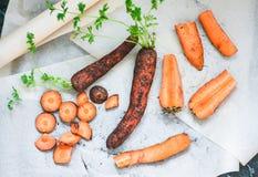 Gesneden wortelen Stock Fotografie