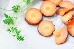Gesneden wortelen Royalty-vrije Stock Fotografie