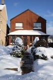 Gesneeuwd huis in Toronto van de binnenstad Royalty-vrije Stock Foto's