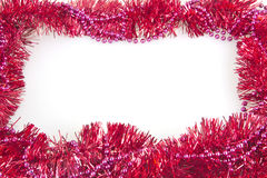 Geïsoleerd de decoratiekader van slinger kleurrijk Kerstmis Stock Fotografie