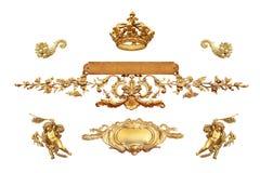 Geïsoleerd gouden detail Stock Afbeeldingen