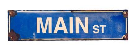 Geïsoleerd Main Street -Teken Stock Afbeeldingen
