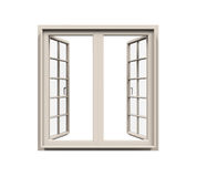 Geïsoleerd raamkozijn Stock Afbeeldingen
