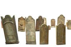 Geïsoleerde begraafplaatsgraven Stock Fotografie