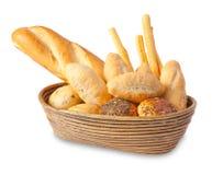geïsoleerde brood Stock Foto's