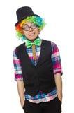 Geïsoleerde clown Stock Afbeeldingen