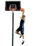 Geïsoleerde de mens van de basketbalspeler Royalty-vrije Stock Afbeelding