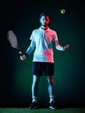 Geïsoleerde de mens van de tennisspeler Royalty-vrije Stock Afbeeldingen