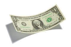 Geïsoleerde de Rekening van één Dollar Stock Foto