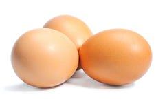 Geïsoleerde eieren Stock Foto's