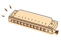 Geïsoleerde harmonika Stock Afbeeldingen