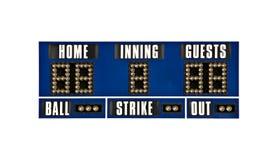 Geïsoleerde het honkbal van het scorebord Royalty-vrije Stock Afbeelding