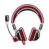 Geïsoleerde hoofdtelefoons op wit Royalty-vrije Stock Foto's