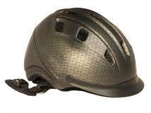 Geïsoleerde paardrijden grijze helm Royalty-vrije Stock Fotografie