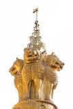 Geïsoleerde Pijlers van Ashoka op wit Royalty-vrije Stock Afbeeldingen