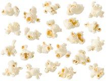Geïsoleerde popcorn Stock Foto's
