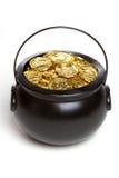 Geïsoleerde Pot van Goud Stock Foto