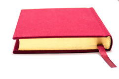 Geïsoleerde rood boek Stock Foto