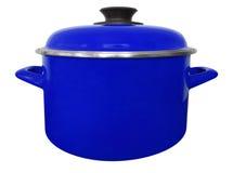 Geïsoleerde steelpan - donkerblauw Stock Fotografie