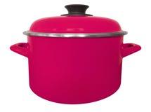 Geïsoleerde steelpan - roze Royalty-vrije Stock Afbeeldingen