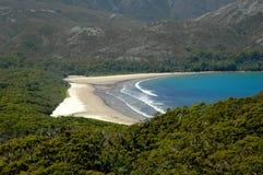 Geïsoleerde strand Stock Afbeeldingen